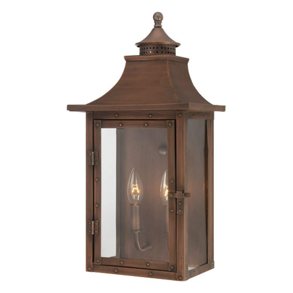 St. Charles Collection Wall-Mount 2-Light Outdoor Copper Patina ...