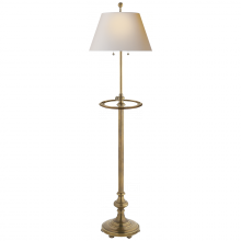 Visual Comfort CHA 9125AB-NP - Overseas Adjustable Club Tray Floor Lamp in Anti