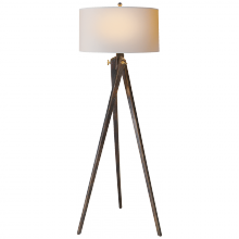Visual Comfort SL 1700TB-NP - Tripod Floor Lamp in Tudor Brown with Natural Pa