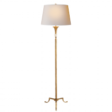 Visual Comfort SP 1004GI-NP - Maurice Floor Lamp in Gilded Iron with Quartz an