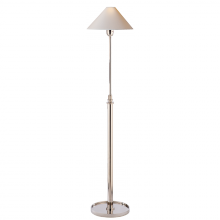 Visual Comfort SP 1504PN-NP - Hargett Floor Lamp in Polished Nickel with Natur