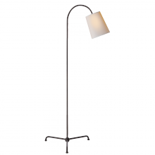 Visual Comfort TOB 1021AI-NP - Mia Floor Lamp in Aged Iron with Natural Paper S