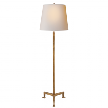 Visual Comfort TOB 1152GI-NP - Parish Floor Lamp in Gilded Iron with Natural Pa
