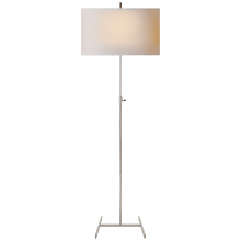 Visual Comfort TOB 1720PN-NP - Jake Adjustable Floor Lamp in Polished Nickel wi